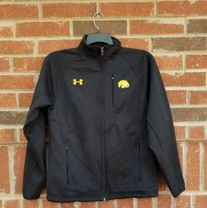 Under armour black jacket hawkeyes zip pockets